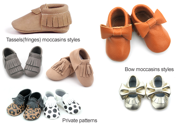 Baby moccasins styles