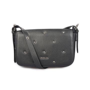 Rockstud Leather Satchel Small Pebbled Leather Crossbody Bag