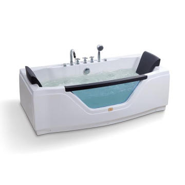 Rectangle Acrylic Massage Freestanding Bathtub