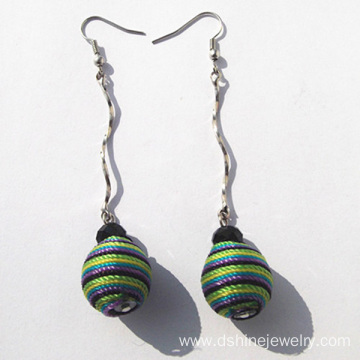 Multicolor Handmade Thread Earring Jewelry Long Earring