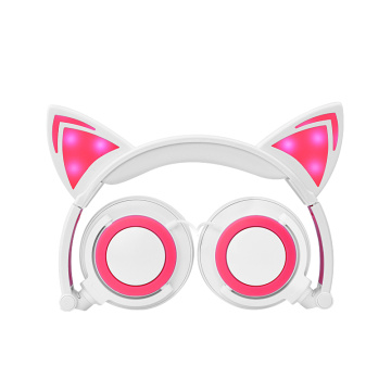 Best Price for for Cat Headphone Headphones factory LED glowing Cat Ear Headphones export to Lao People's Democratic Republic Supplier