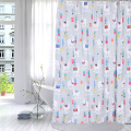 Shower Curtain Polyester Cute Alpaca