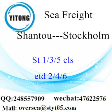 Shantou Port LCL Consolidation To Stockholm