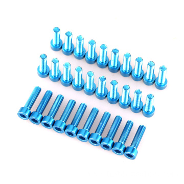 Inkinobho ye-Anodized 7075 Aluminium Hex Socket Screw