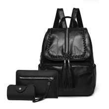 Spring new leather shoulder bag backpack