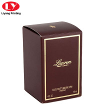 Perfume Packaging Paper Box with Gold Logo