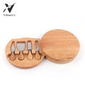 4PC Cheese Knife Set With Wood Board