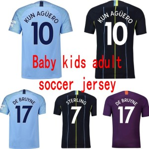 Thailand Manchester City soccer jersey for adult kids baby xxs-xxl name number patch