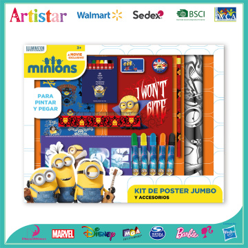MINIONS activity stationery set