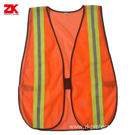 100 % Polyester mesh reflective clothing