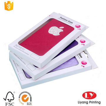 Cheap phone case box with PVC tray