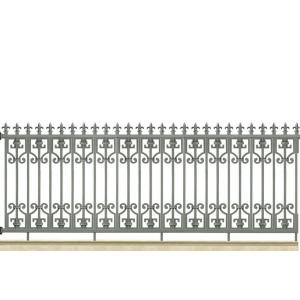 Grey durable Aluminum Fence