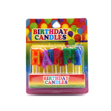 13pcs golden podwer happy birthday letter candle