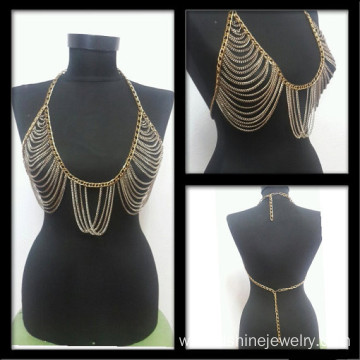 Body Chain Necklace Jewelry Chain Tassel Bib Necklace
