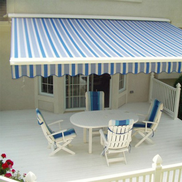 Stylish outdoor retractable awning