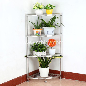 304 Stainless Steel Corner Frame Adjustable Shelf