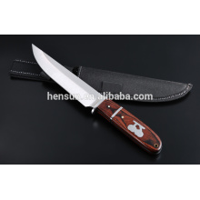 Brown Red Pakka Wood Handle Hunting Knife