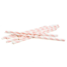 Decorative paper party straws