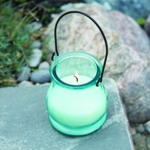 Outdoor Citronella Repellent Candle In Glass Jar