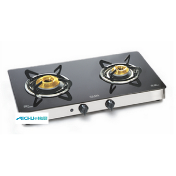 2 Forged Burners Glass Cooktop Auto Ignition