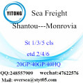 Shantou Port Sea Freight Shipping To Monrovia