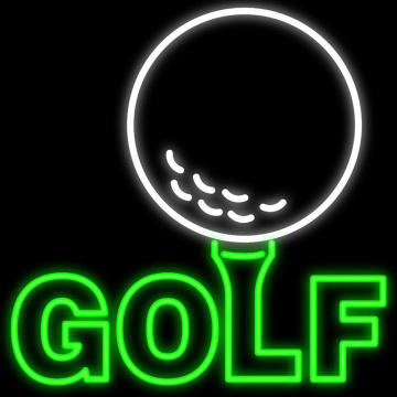 GOLF LIGHT UP SIGNAGE NEON
