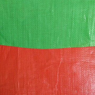 250gsm Green Orange Laminated PE Tarpaulin