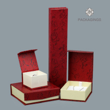 Red color folding bracelet box for gift