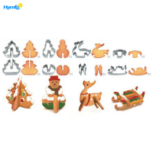 China Manufacturers for China Stainless Steel Cookie Cutter,Easter Biscuit Cutters,Easter Cookie Cutters Supplier Metal Bulk 3D Cookie Cutter Set Christmas supply to Armenia Factory