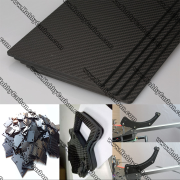 Carbon Glass Sheets frame for CNC Cutting