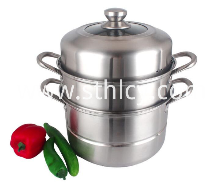 Tier Stainless Steel Steamer Pot