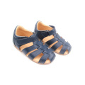 Attractive Design Multiple Cross Lines Blue Kids Sandals