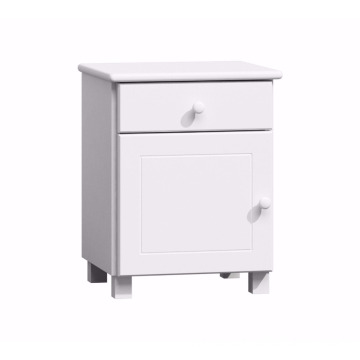 White Wooden Night Stand Wood Nightstand Bedside Table Pinewood Pine Furniture