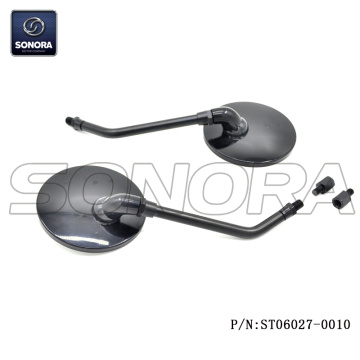 Vespa Mirror black  M8 with M10 adaptor (P/N:ST06027-0010) high quality