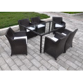 DS-(402) white rattan outdoor furniture dining set/ white cube set table outdoor dining set