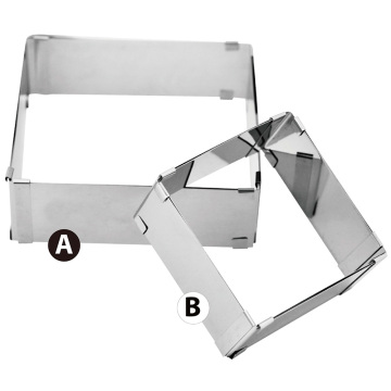 Extendable square cake ring 2pcs