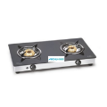 Glen 2 Burners Black Glass Gas Top