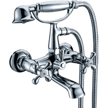 Wall Mounted Hand Shower Tub Mixer Faucet
