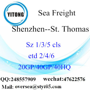 Shenzhen Port Sea Freight Shipping To St. Thomas