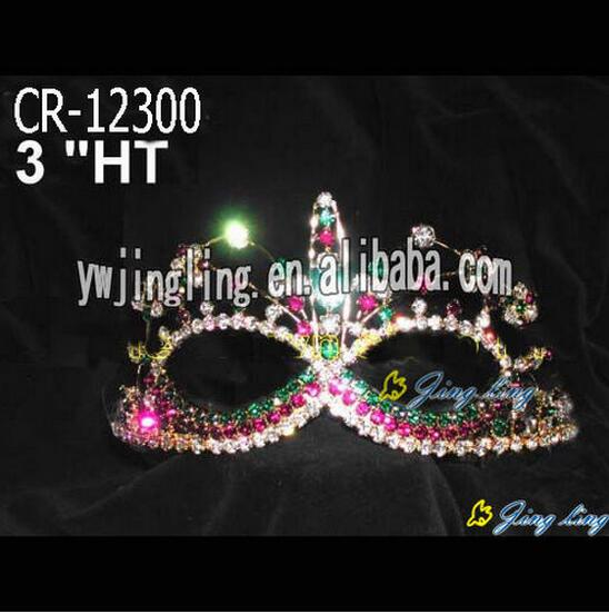 Colored Rhinestone Easter Mask Crowns For Party