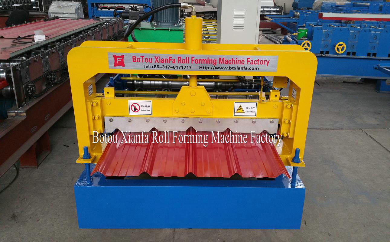 trapezoidal panel machine cutting