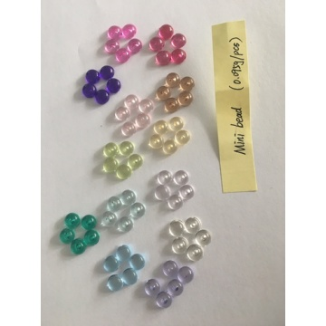 Low MOQ for for Clear Faceted Acrylic Beads Wholesale Colorful Acrylic Mid Bead for Decoration supply to Brazil Importers