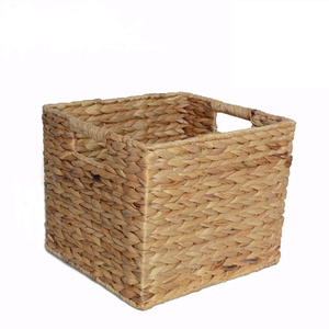 Top for Storage Basket Practical Rectangular Water Hyacinth Storage Basket export to Poland Factory