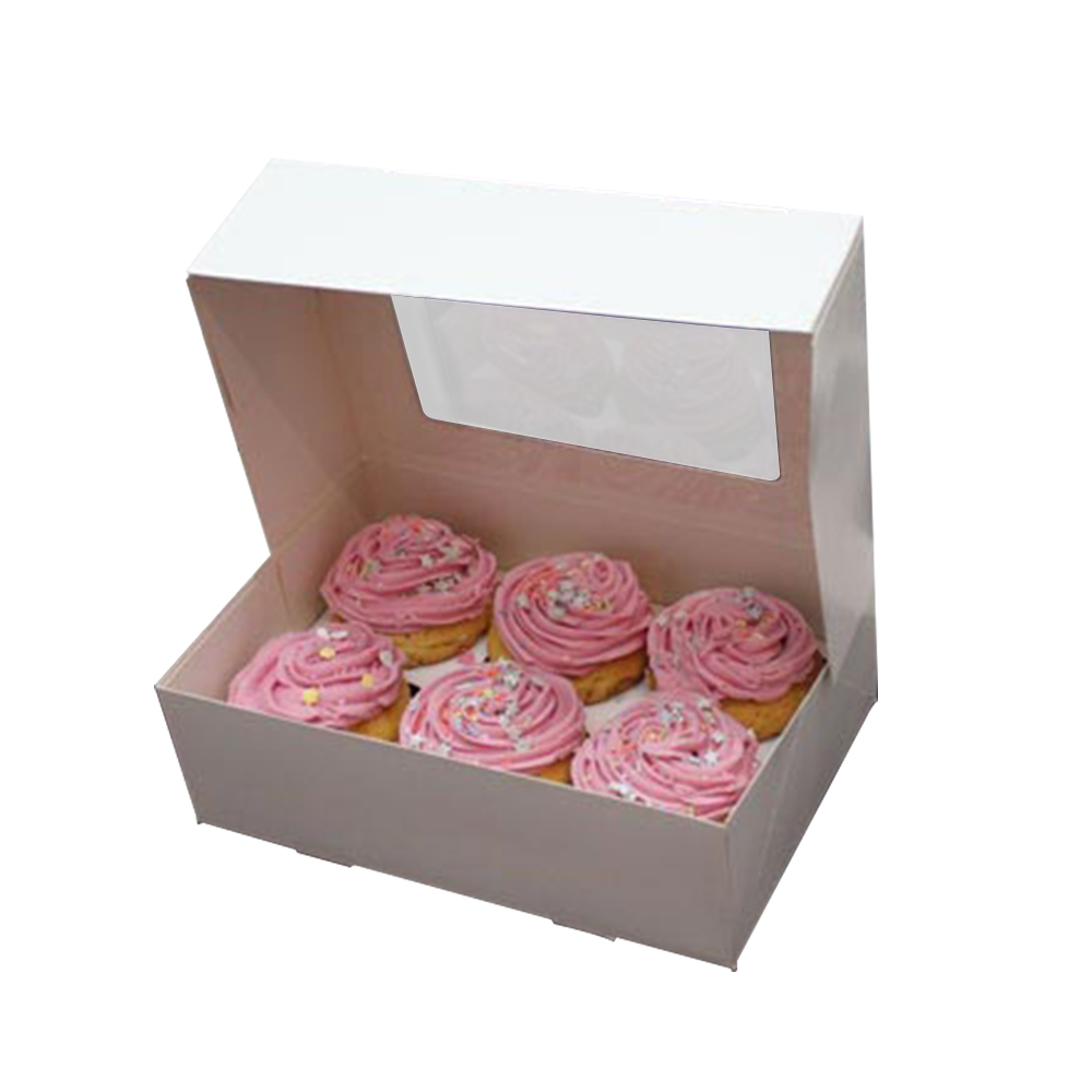 White Paper with Window Bakery Boxes