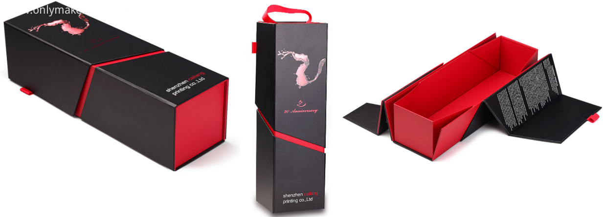 wine box in flat shipping way