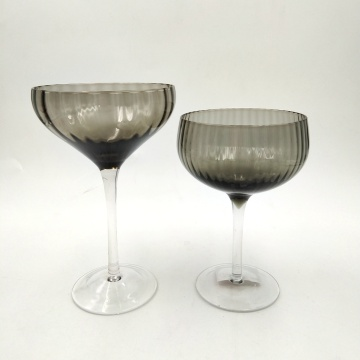 Fashion hand made martini glass cup with ribbed