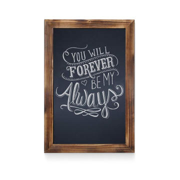 Wood Magnetic Wall Chalkboard with hooks