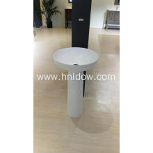 Pure acrylic column washbasin for hotel