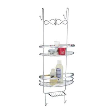 Metal With Chrome Finished Bathroom Rack