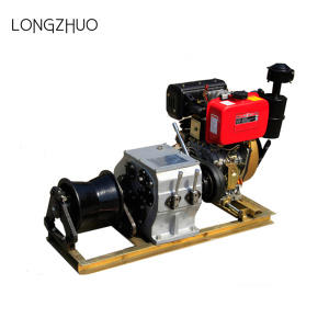 Gasoline Engine Powered Cable Pulling Winch